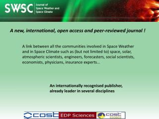 A new, international, open  access  and  peer - reviewed  journal !