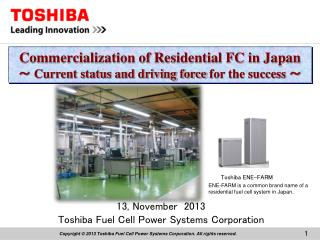 13, November  2013 Toshiba Fuel Cell Power Systems Corporation