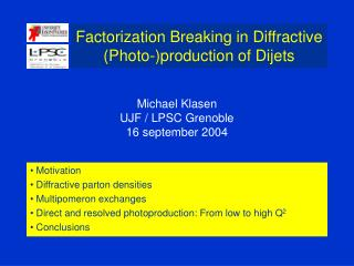 Factorization Breaking in Diffractive (Photo-)production of Dijets