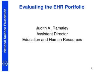 Evaluating the EHR Portfolio