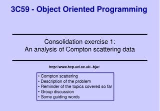 3C59 - Object Oriented Programming