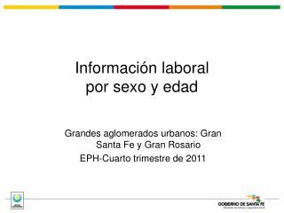 Información laboral  por sexo y edad