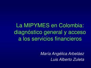 La MIPYMES en Colombia: diagnóstico general y acceso a los servicios financieros