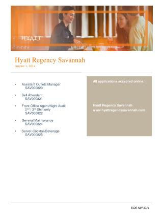 Hyatt Regency Savannah