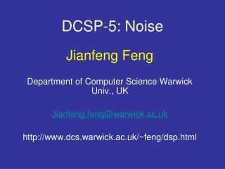 DCSP-5: Noise