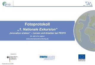 """Fotoprotokoll """"1. Nationale Exkursion"""" """"Innovation erleben"""" – Lernen und Arbeiten bei FESTO"""