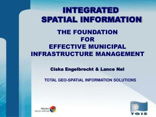 TOTAL GEO-SPATIAL INFORMATION SOLUTIONS
