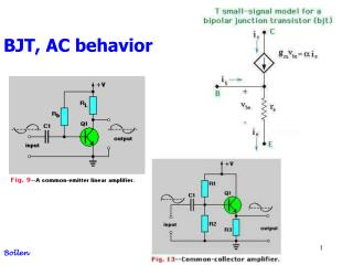 BJT, AC behavior