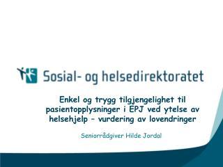 Seniorrådgiver Hilde Jordal