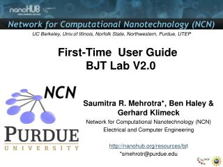First-Time  User Guide        BJT Lab V2.0