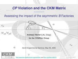CP  Violation and the CKM Matrix —————— Assessing the impact of the asymmetric  B  Factories