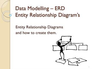 Data Modelling – ERD Entity Relationship Diagram's