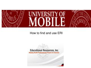 How to find and use ERI