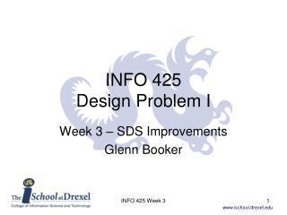 INFO 425 Design Problem I