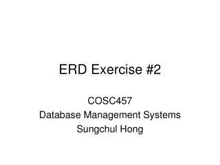 ERD Exercise #2