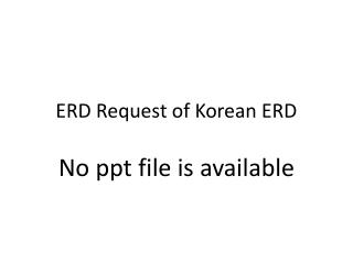 ERD Request of Korean ERD