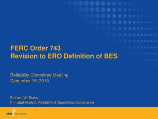 FERC Order 743  Revision to ERO Definition of BES