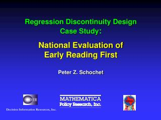 Regression Discontinuity Design Case Study : National Evaluation of  Early Reading First