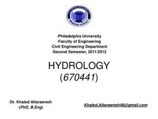 HYDROLOGY ( 670441 )