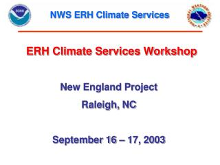 NWS ERH Climate Services