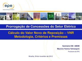 Seminário CNI / ABDIB Maurício Tiomno Tolmasquim Presidente da EPE