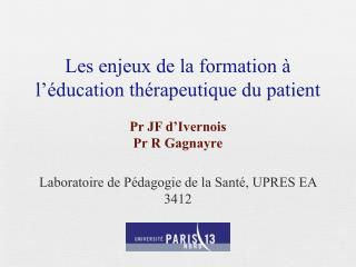 Les enjeux de la formation à l'éducation thérapeutique du patient