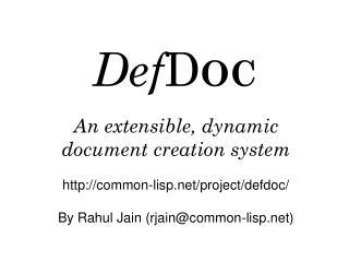 Def D OC