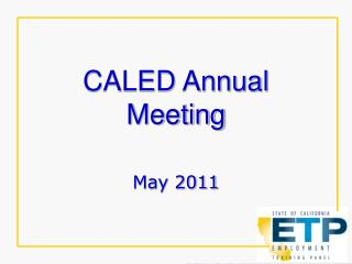CALED Annual Meeting
