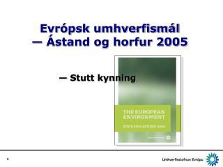 Evrópsk umhverfismál  — Ástand og horfur 2005