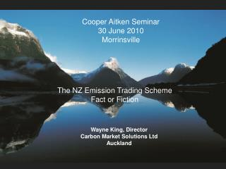NZ Forest Carbon and the Carbon Markets