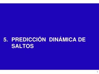 PREDICCIÓN  DINÁMICA DE SALTOS