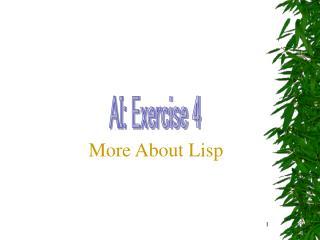 AI: Exercise 4