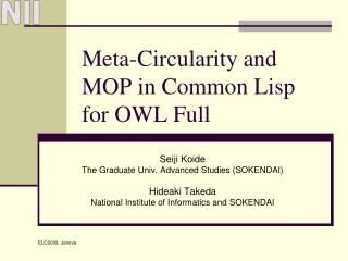 Meta-Circularity and MOP in Common Lisp for OWL Full
