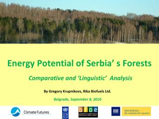 Energy Potential of Serbia  s Forests