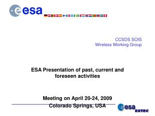 CCSDS SOIS Wireless Working Group