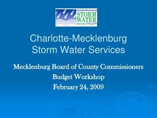 Charlotte-Mecklenburg  Storm Water Services