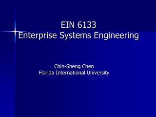 EIN 6133 Enterprise Systems Engineering