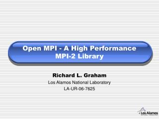Open MPI - A High Performance MPI-2 Library