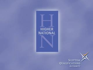 Promotion of HN Qualifications: College Case Studies