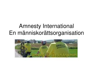 Amnesty International En människorättsorganisation