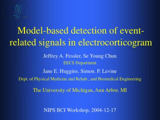 Model-based detection of event-related signals in electrocorticogram
