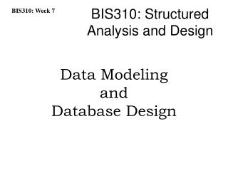 Data Modeling and Database Design