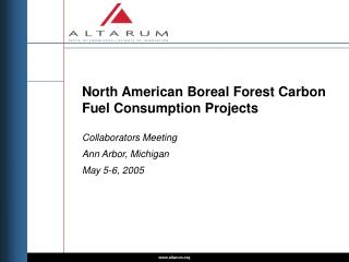 North American Boreal Forest Carbon Fuel Consumption Projects