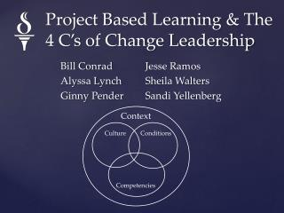 Project Based Learning & The 4 C's of Change Leadership