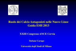 Stefano  Carugo Università degli Studi di Milano