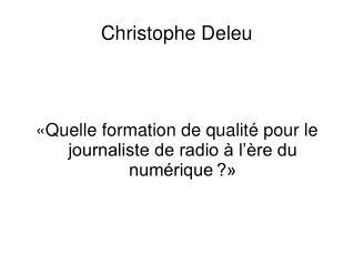 Christophe Deleu