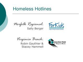 Homeless Hotlines
