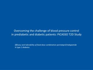 Efficacy and tolerability of fixed dose combination perindopril/indapamide in type 2 diabetes