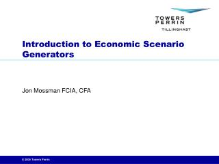 Introduction to Economic Scenario Generators