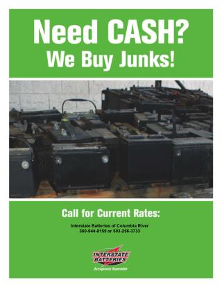 Interstate Batteries of Columbia River 360-944-8155 or 503-256-3733